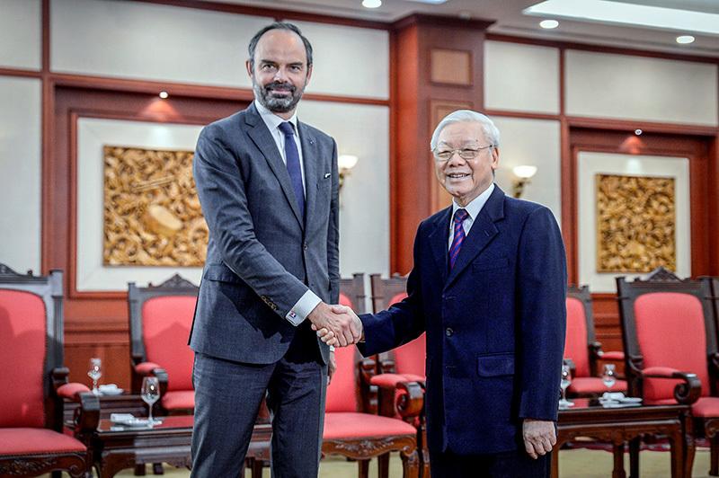 Tổng bí thư, Chủ tịch nước tiếp Thủ tướng Pháp