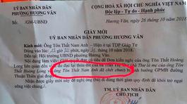 Lỗi giấy mời gây 'chết người' của phường Hương Văn