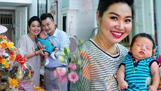 Lê Khánh hạnh phúc trong ngày đầy tháng con trai đầu lòng