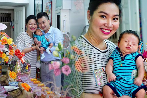 Lê Khánh hạnh phúc trong ngày đầy tháng con trai đầu lòng - ảnh 2