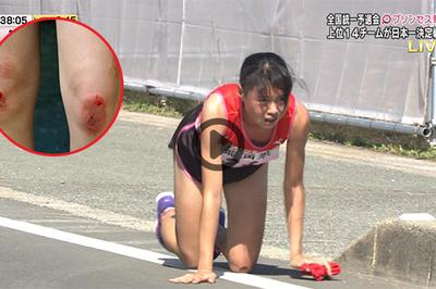 Nữ VĐV điền kinh Iida Rei bò 250m để về đích: Ngả mũ trước tinh thần Nhật Bản