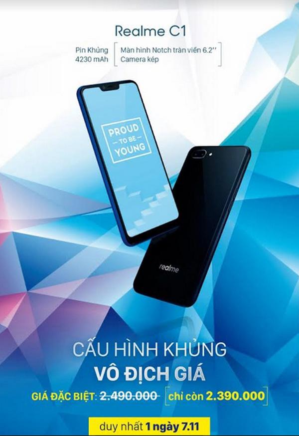 5 ngày, hơn 10.000 lượt đặt mua Realme C1