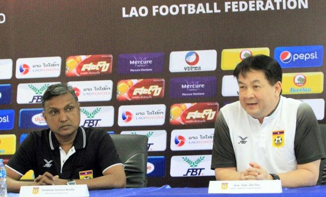 Chủ tịch LĐBĐ Lào tuyên bố có điểm trước tuyển Việt Nam