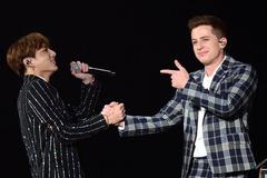 Charlie Puth gây sốt khi diễn cùng BTS tại Hàn Quốc