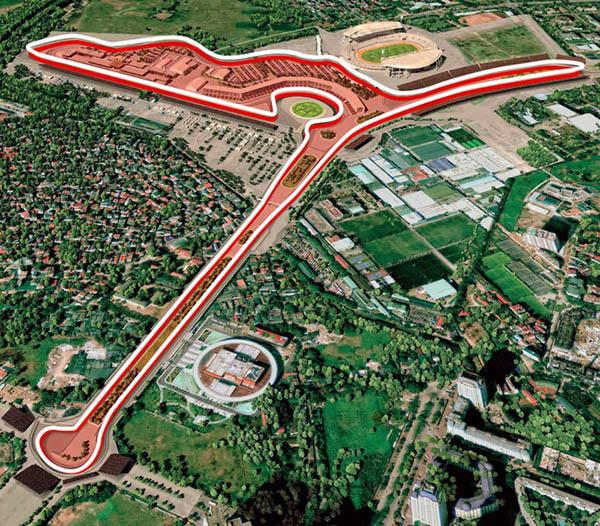 Đường đua F1 dài hơn 5,5 km tại Hà Nội