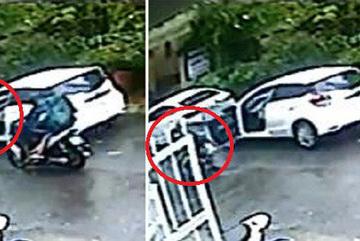 Nữ tài xế mở cửa ô tô kiểu 'giết người', gây họa cho xe máy