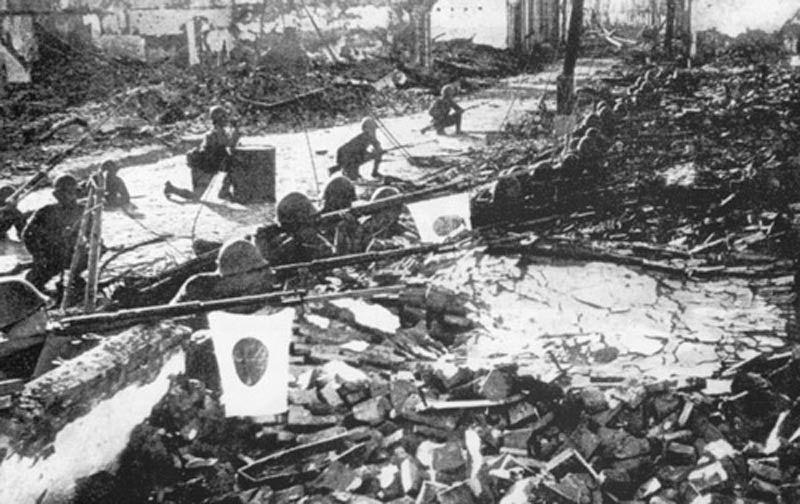 Quân Nhật giữa Thượng Hải đổ nát