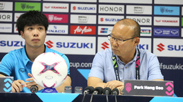 HLV Park Hang Seo chưa hài lòng dù Việt Nam thắng đậm Lào