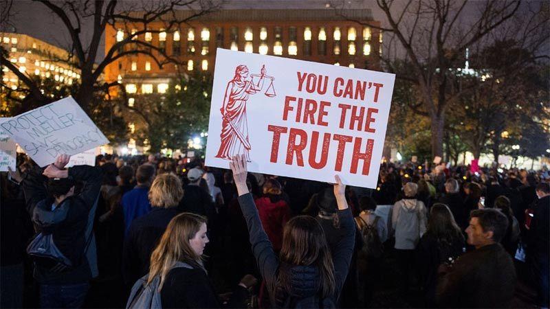 Biểu tình khắp nước Mỹ phản đối ông Trump