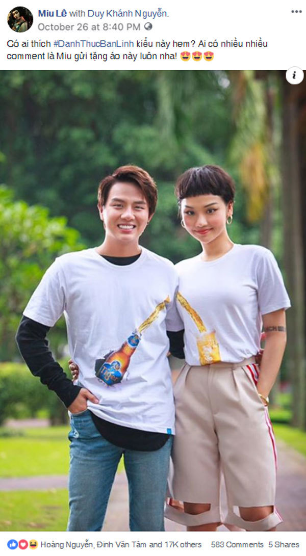 Duy Khánh gây sốt khi tung 'hit khủng' của Miu Lê