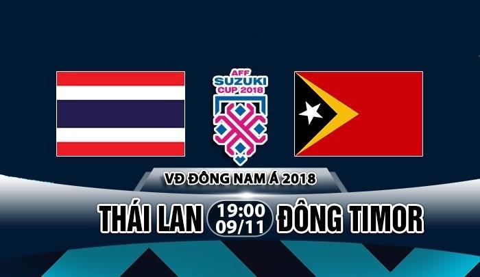 Link xem trực tiếp Thái Lan vs Đông Timor, 19h ngày 9/11