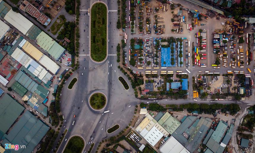 Toàn cảnh đường đua F1 tương lai tại Hà Nội từ trên cao