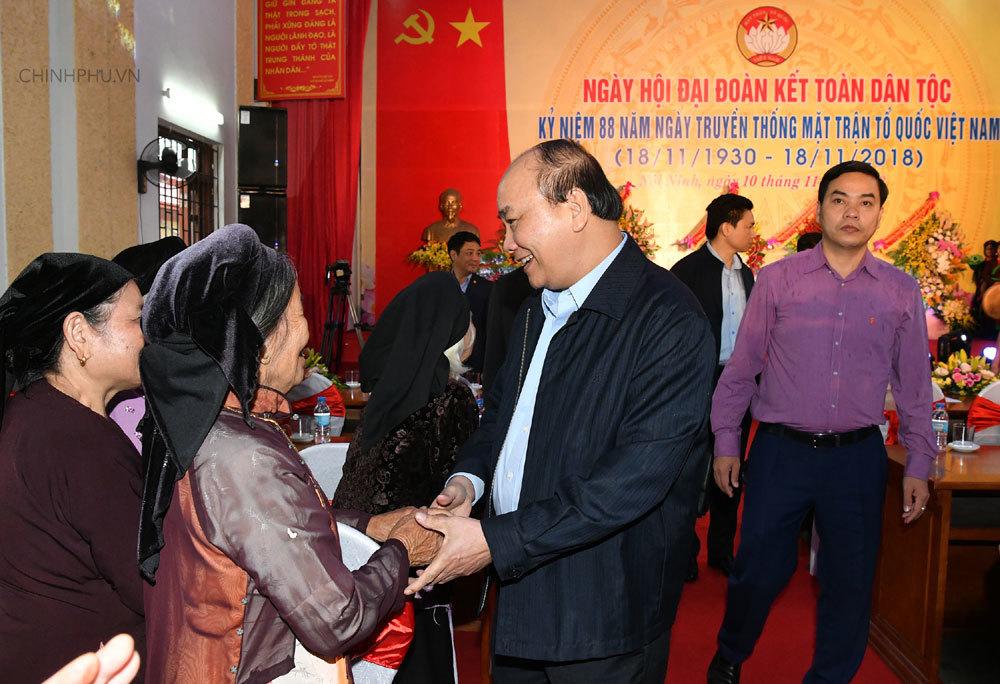 Thủ tướng: Ngày hội Đoàn kết là hoạt động thiết thực để tránh bệnh quan liêu, xa dân
