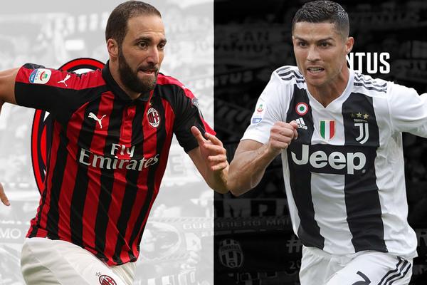 Kèo Milan vs Juventus: Higuain quyết đấu Ronaldo