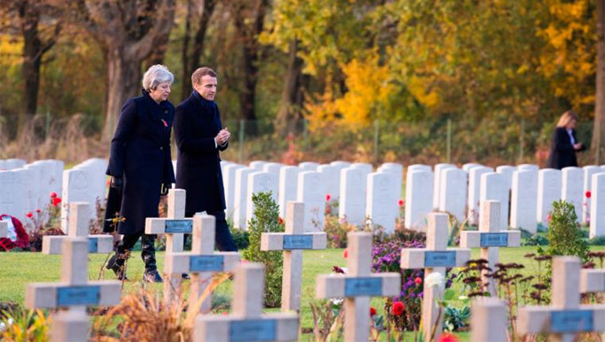 Các lãnh đạo thế giới kỷ niệm 100 năm kết thúc Thế chiến I