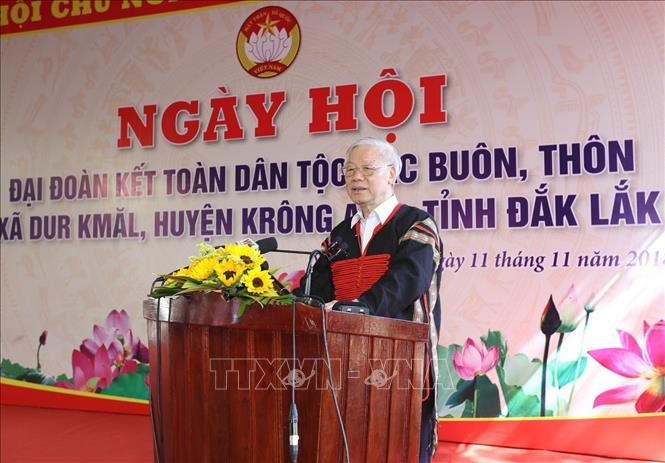Tổng bí thư Nguyễn Phú Trọng,Chủ tịch nước Nguyễn Phú Trọng,Nguyễn Phú Trọng,đồng bào dân tộc,Đắk Lắk