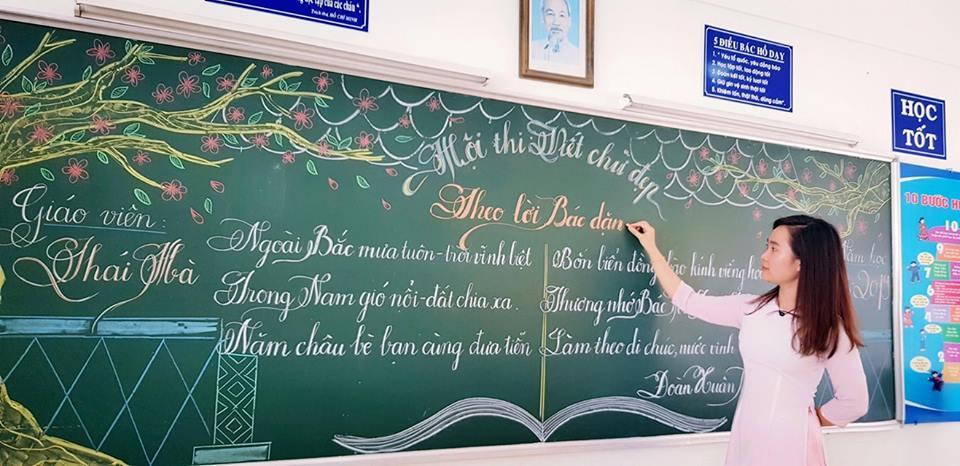 Những bài thi viết chữ đẹp của các cô giáo Vũng Tàu