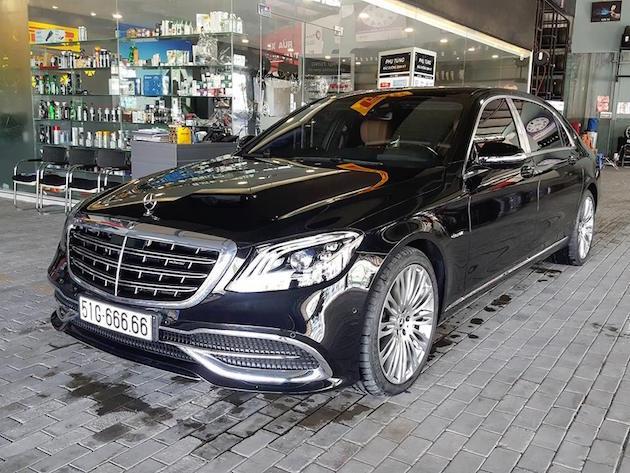 Xôn xao xe siêu sang Mercedes-Maybach biển