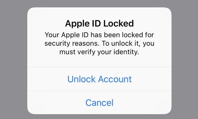Nhiều người dùng iPhone bất ngờ bị khóa Apple ID