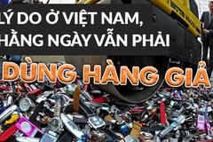 Lý do ở Việt Nam hằng ngày vẫn phải dùng hàng giả