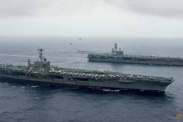 Hàng trăm chiến đấu cơ Mỹ tập trận ở biển Philippines