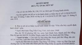 Phút 89 hoãn xử vụ kiện Chủ tịch Đà Nẵng