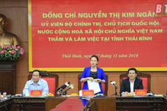 Chủ tịch Quốc hội làm việc tại tỉnh Thái Bình