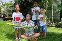 """Vườn rau xanh tươi mơn mởn trong biệt thự tiền tỷ do chồng Ốc Thanh Vân trồng """"tặng"""" 4 mẹ con"""