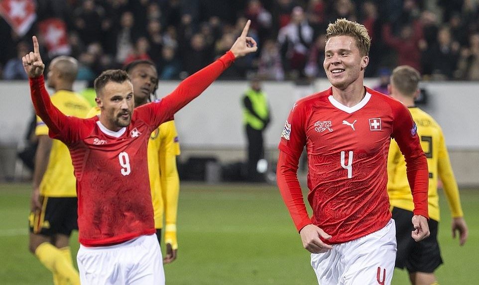 Thụy Sỹ,Bỉ,UEFA Nations League