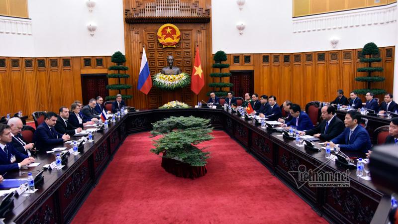 Thủ tướng Nga thăm Việt Nam,Thủ tướng Nguyễn Xuân Phúc,Nguyễn Xuân Phúc,Việt-Nga,quan hệ Việt-Nga,dầu khí