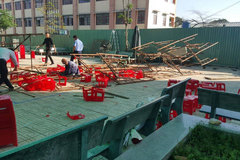 Xử lý nghiêm việc sập giàn giáo trong sân trường ngày 20/11