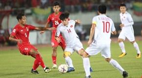 Myanmar 0-0 Việt Nam: Văn Đức sút trúng cột dọc (hiệp 1)