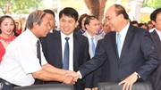 Thủ tướng Nguyễn Xuân Phúc về thăm trường cũ ngày 20/11