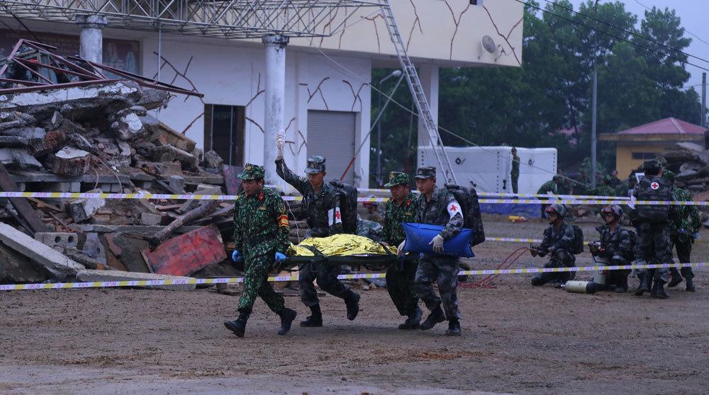 Quân đội Việt-Trung diễn tập chung về cứu trợ thảm họa