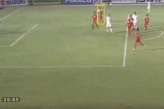 """Video trọng tài Thái Lan """"cướp"""" bàn thắng của Văn Toàn"""