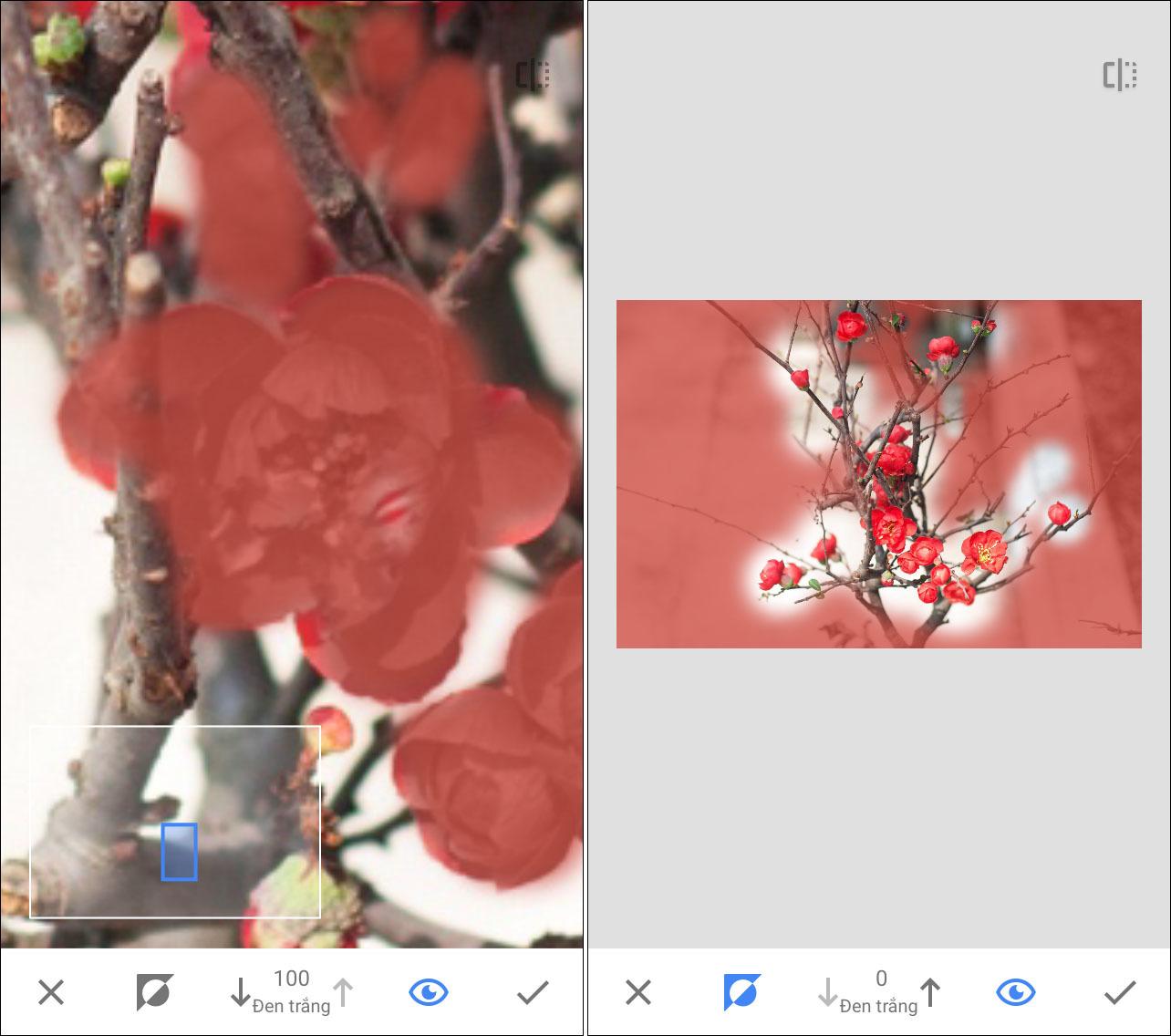 Cách tạo ảnh màu trên nền đen trắng bằng smartphone