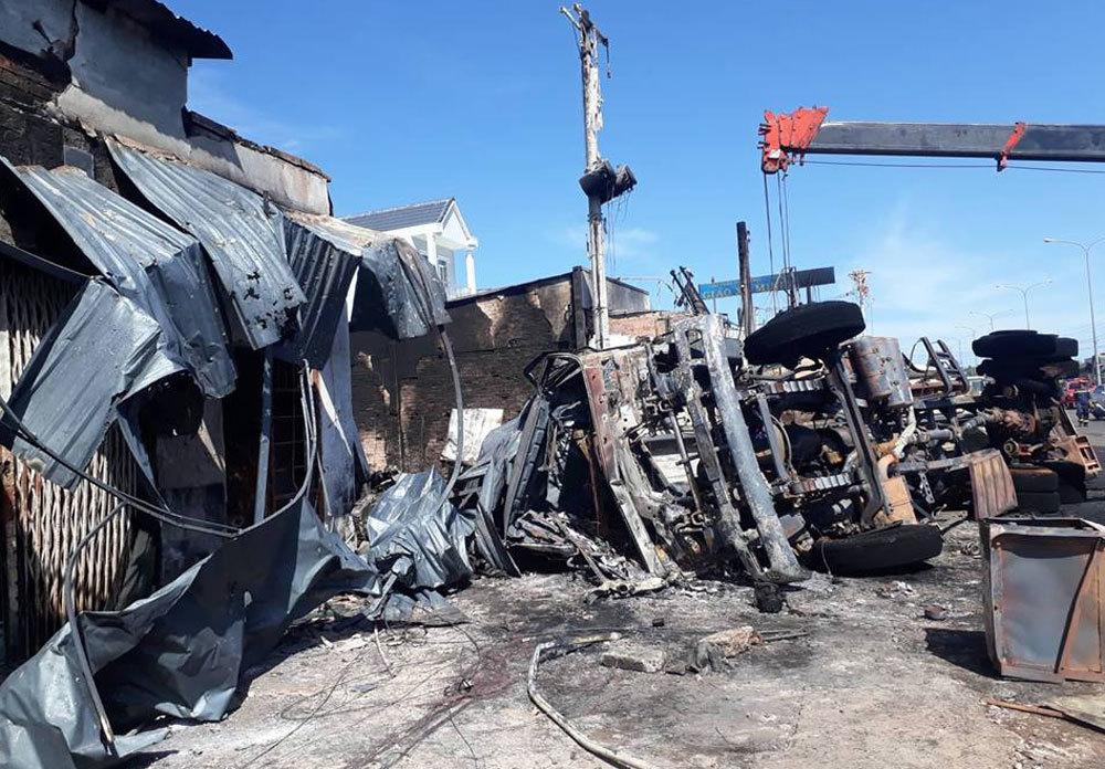 Bình Phước,cháy lớn,cháy xe bồn