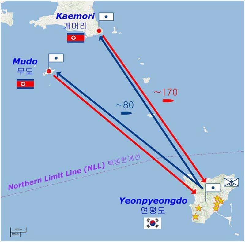 Ngày này năm xưa,pháo chiến,pháo kích,Hàn Quốc,Triều Tiên,đảo Yeonpyeong