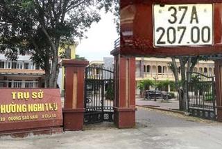 Nghệ An: Xe CRV của Trưởng công an phường gắn biển giả