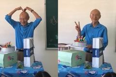 Thầy giáo 74 tuổi tạo hình dễ thương khiến học sinh phấn khích