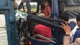 Hy hữu tài xế bị đâm 2 lần liên tiếp trên cao tốc Hà Nội - Thái Nguyên