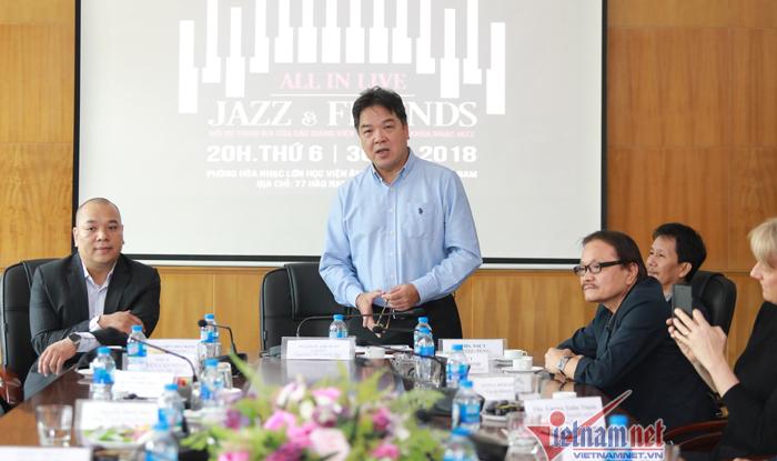 Quyền Văn Minh hội ngộ các nghệ sĩ gạo cội làng jazz Việt
