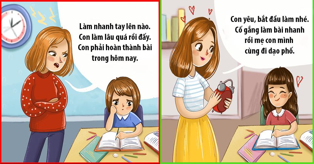 Bộ ảnh giúp cha mẹ dạy con đúng cách