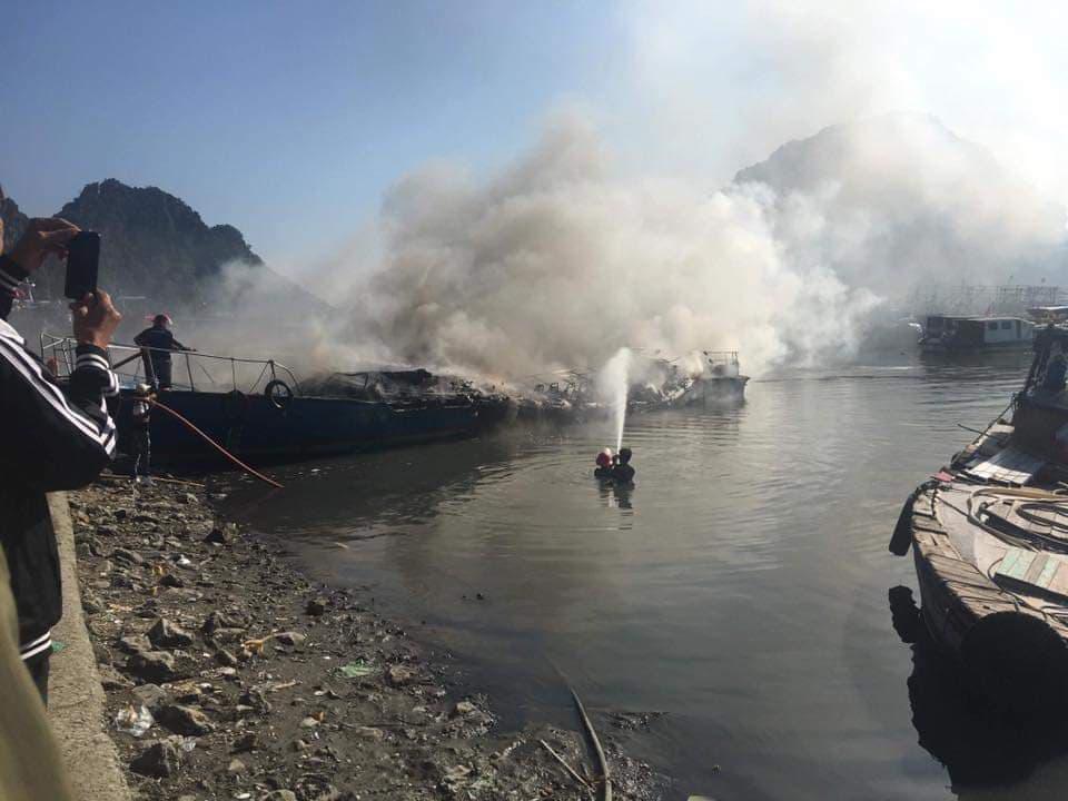 cháy tàu,Quảng Ninh,tàu cao tốc