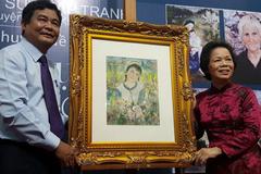 Tác phẩm của họa sĩ Lê Thị Lựu lần đầu triển lãm trong nước