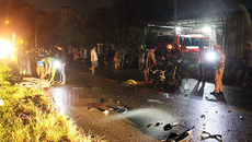 Lao xe nhanh trong đêm bão, 2 người chết tức tưởi
