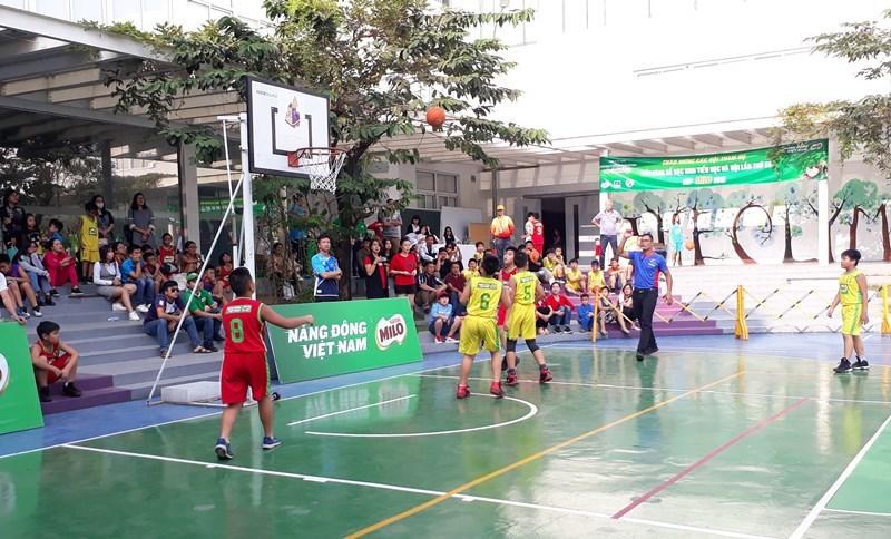 Kết thúc Giải bóng rổ Học sinh Tiểu học Hà Nội năm 2018