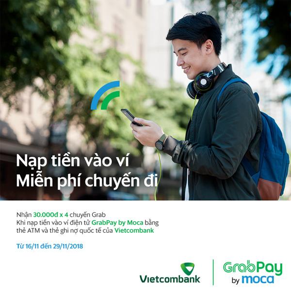 Grab hợp tác Vietcombank, người dùng thêm trải nghiệm thanh toán