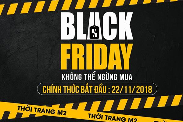 Thời trang M2 giảm đến 50% dịp Black Friday 2018