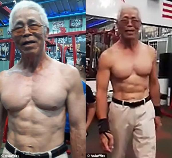 Cụ ông 73 tuổi khiến hàng triệu cô gái rung động vì các bài tập nặng độ